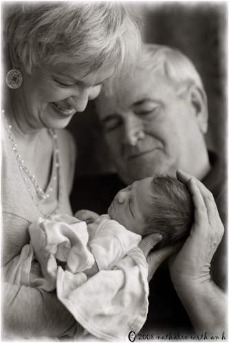 Grand parents and newborn
