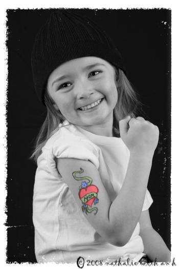 Tattooed little girl