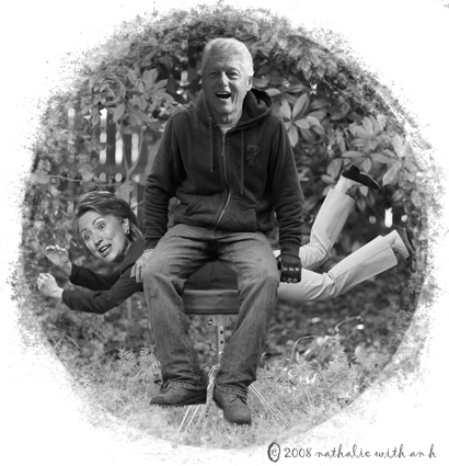 Bill sitting on Hillary - montage