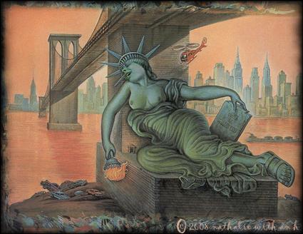 Statue de la Liberte malade